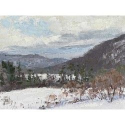 Labrador hollow, truxton ny, Tully ny, oil painting, plein air, winter,